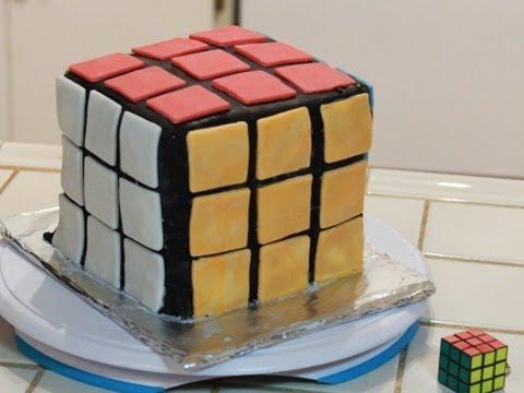 HowTo make a RUBIKS CUBE CAKE - QnB