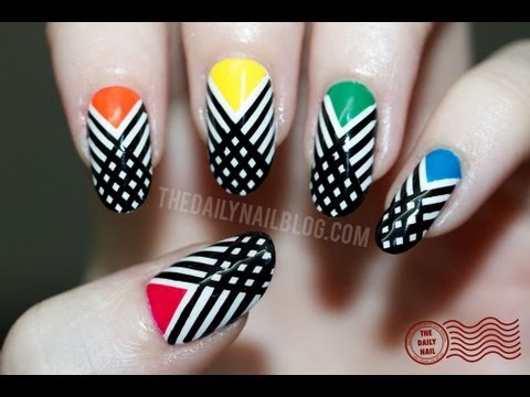 Nail Designs Stripes And Dots Polka Dot Stripes Nail Art