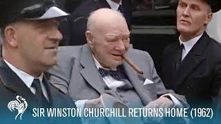 Sir Winston Churchill Returns Home from Hospital (1955) | British Pathé