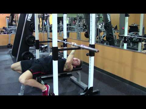 Bench Rack Lockout - Exercises to Increase Bench Press - HASfit Bench Exercise Demonstration