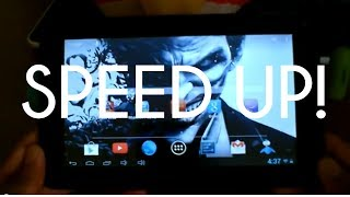 How To Speed Up A Cheap/Slow Android Tablet 2013