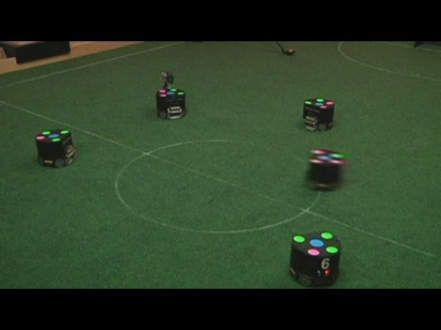 Robot footballers pass and shoot in Colombia