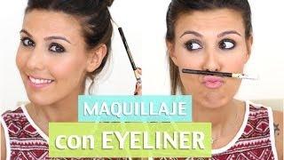 Maquillaje con eyeliner negro