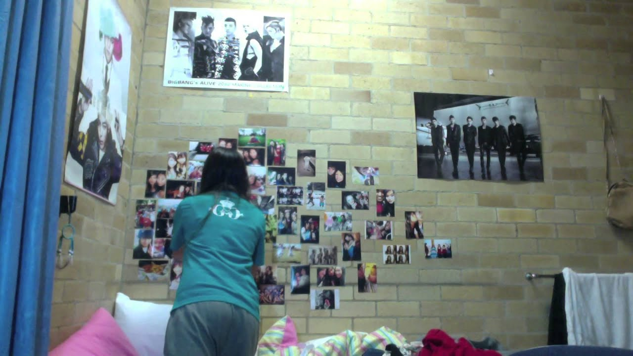 Redecorating My Room (Picture Collage & KPOP Posters) - YouTube