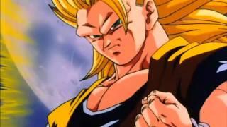 Goku turns Super Saiyan 3 against Kid Buu (HD)