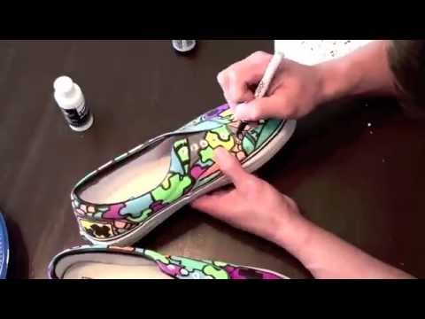 Custom Shoes: Sloth Custom Vans (Time lapsed), Here are a new pair of my Sloth Custom Vans I just finished. I hope you guys enjoy the video :) Stay posted for some more videos. Follow SLOTH on Twitter @ie...