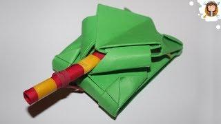 Tanque De Papel Que Dispara Cotonetes (Tutorial Origami