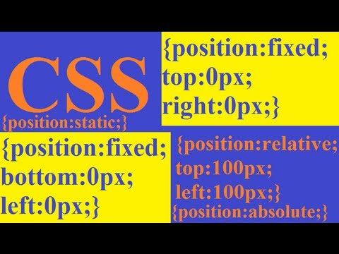 CSS how to: position