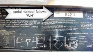 How to Identify your Whitfield Pellet Stove Model-Name - YouTube Whitfield Advantage Iii Wiring Diagram on
