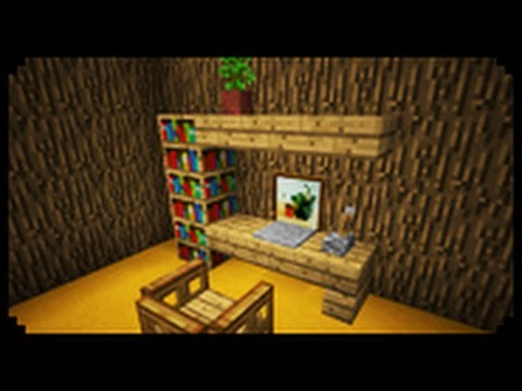 Minecraft how to make a home office youtube for Office design minecraft