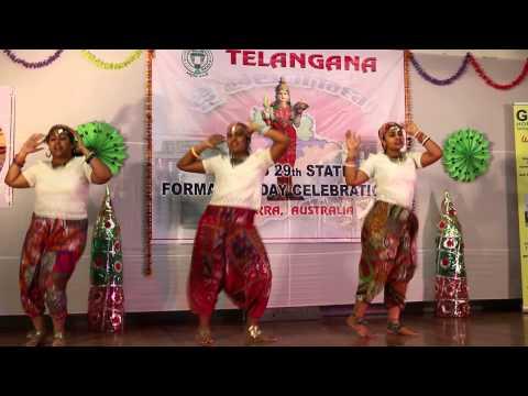 Telangana Formation Day celebrations in canberra Dance By Sushma,Susmitha & Prathyusha