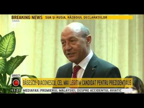 Basescu: Cristian Diaconescu, cel mai legitim candidat pentru Presedintie
