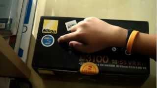 Nikon D3100 Unboxing