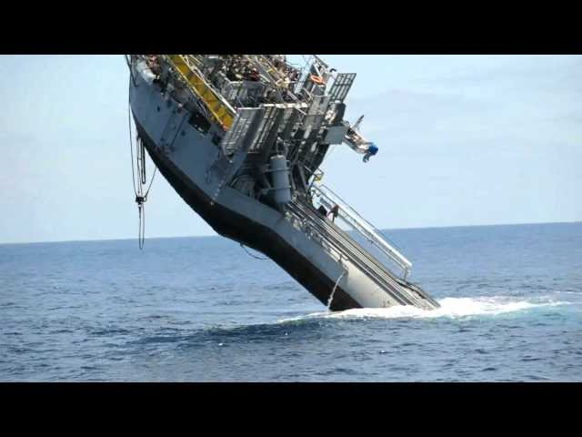 355-foot 700 Ton Ship Flips