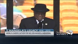 Namibian President bids Mandela farewell