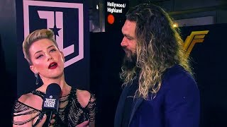 Amber Heard & Jason Momoa 'Justice League' World Premiere