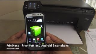 PrintHand Print From Galaxy S3 Or Any Android Smartphone