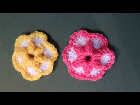 Hướng dẫn móc hoa len - Mẫu hoa mai 6 cánh