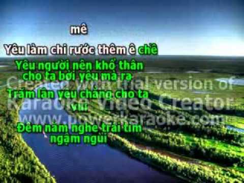 KHO VI YEU NANG  KARAOKE