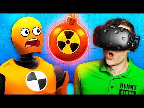 Creating A SECRET BOMB To Destroy RAGDOLL DUMMIES (Funny Rage Room VR Gameplay)