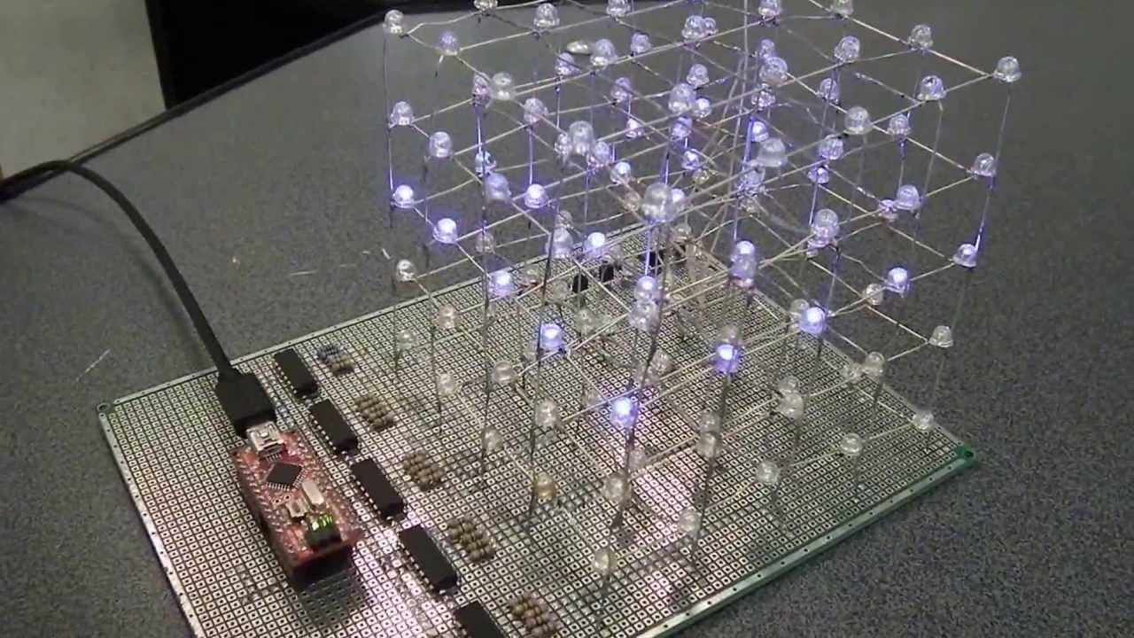 Самодельный светодиодный куб DIY LED CUBE