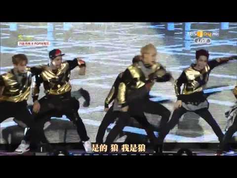 LIVE EXO   WOLF、GROWL 2014 02 12繁體中字