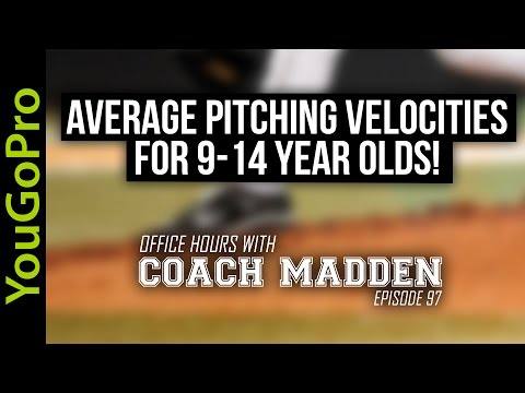Average Pitching Velocities for 9-14 year olds!  [Office Hours with Coach Madden] Ep.97