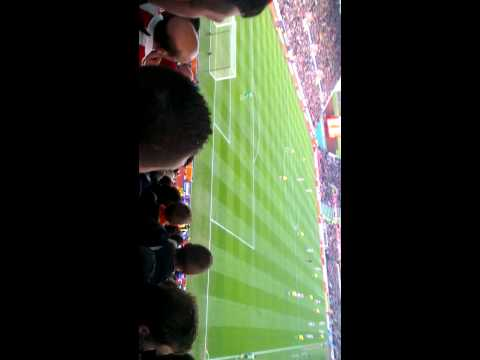 Delilah after stoke goal vs Arsenal 1/3/14