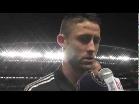 Chelsea's Gary Cahill speaks with Bleacher Report after FC Basel defeat