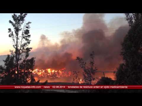El Ejido cerca de Roquetas de Mar  Residuos arden en Ejido Medio Ambiente 2014