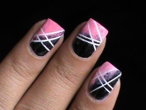 cute ombre nails with sponge l long/short nail designs