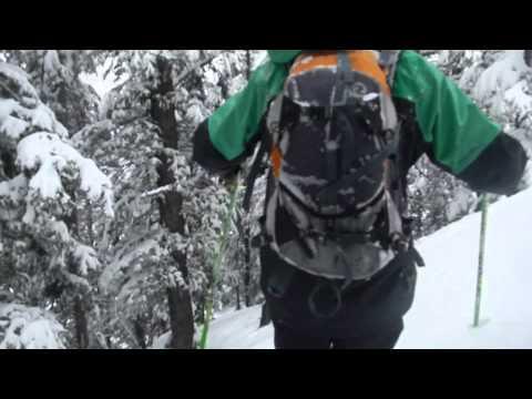 Crazy spring storm skiing - Jackson Hole