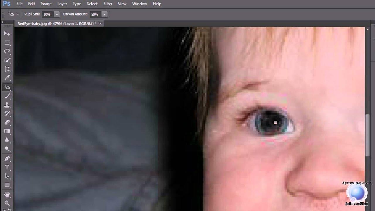 PhotoShop CS6- Remover Olhos Vermelhos [Metodo-1] - YouTube