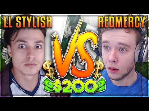 REDMERCY VS LL STYLISH! TIME TO STYLE!!! $200 1v1 SHOWDOWN!!  - League of Legends
