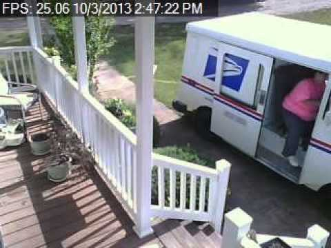 Usps Driver Drives Onto Customer's Lawn To Deliver