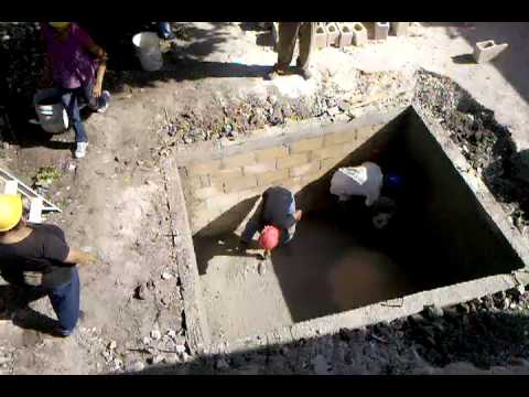 Building The Septic Tank Youtube
