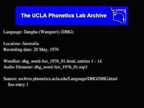 Dhangu audio: dhg_word-list_1976_01