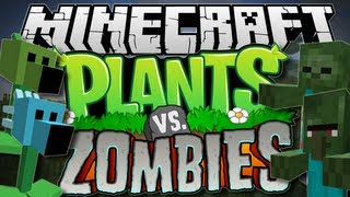 Minecraft PLANTS Vs ZOMBIES! (Pea Shooters Galore