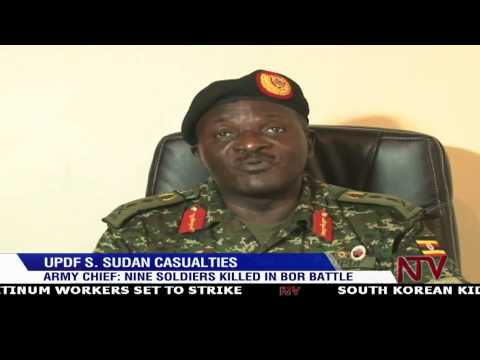South Sudan Crisis: Nine UPDF soldiers killed in Bor battle