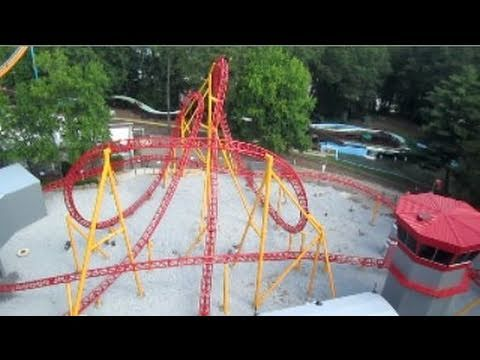 Dare Devil Dive Front Seat on-ride HD POV Six Flags Over Georgia