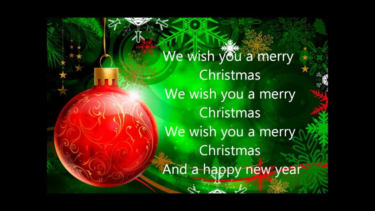 Displaying 18 gt images for we wish you a merry christmas lyrics
