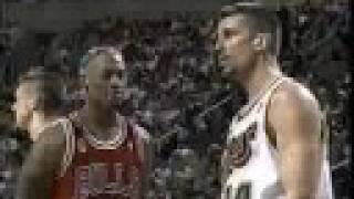 Dennis Rodman Pisses Off Frank Brickowski
