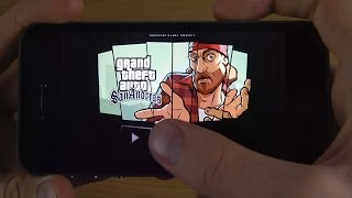 Grand Theft Auto San Andreas iPhone 5S iOS 7 0 4 Jailbroken Gameplay Test