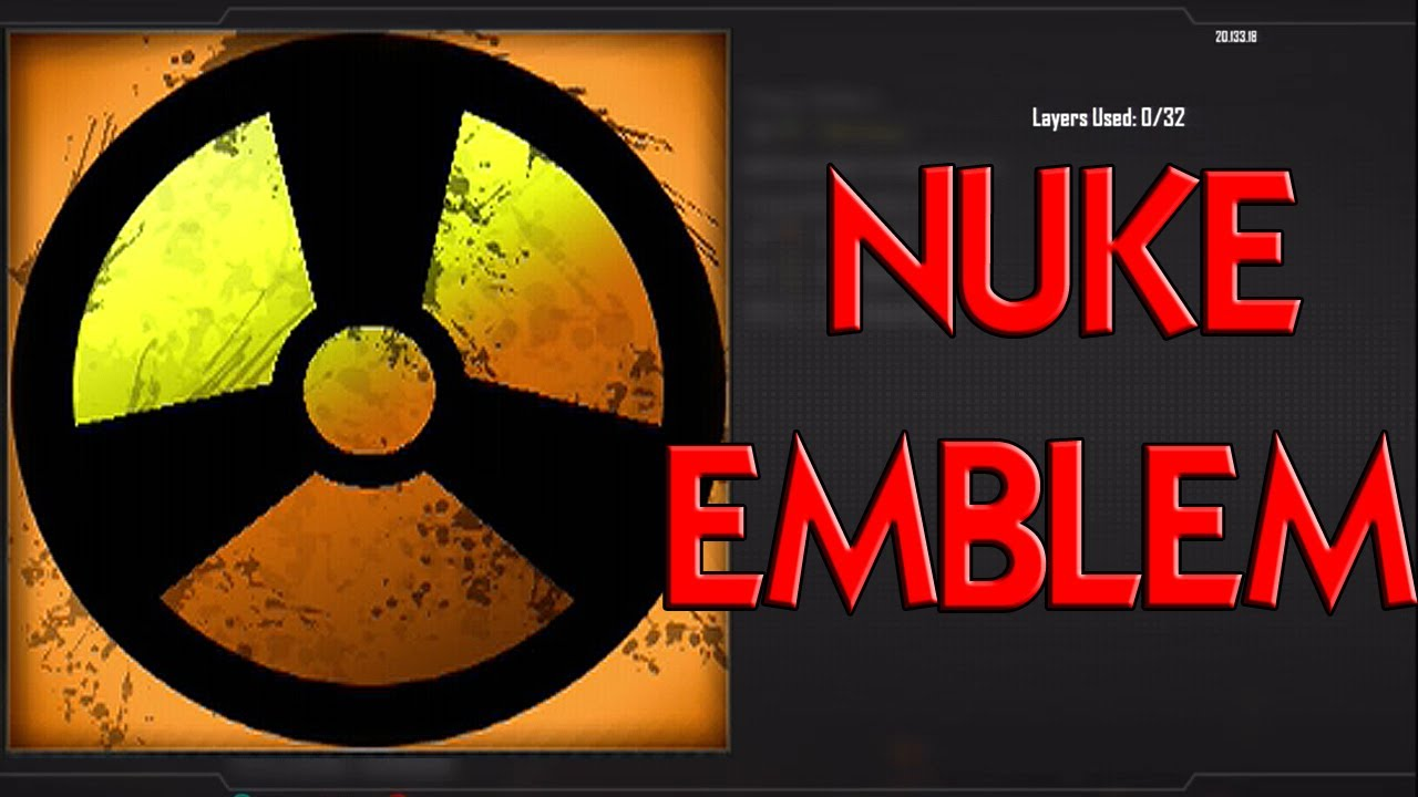 advanced warfare nuke symbol easy black ops 2 emblem
