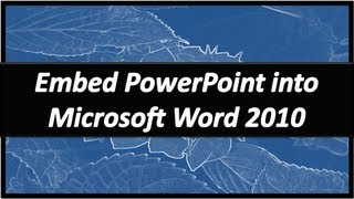 Embed PowerPoint In Word Microsoft Word