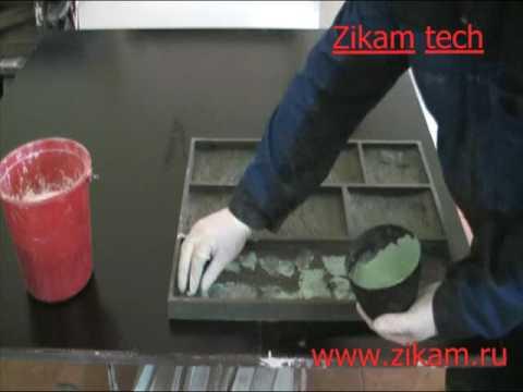 Как сделать гипсовую плитку под камень видео