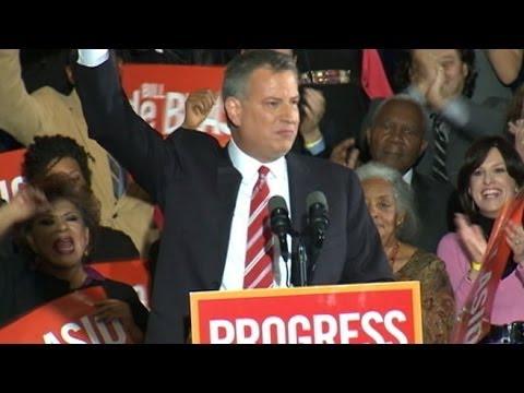 Bill de Blasio Elected Mayor of New York City