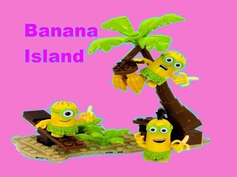 Minions Banana Island Playset Mega Bloks A Movie Exclusive