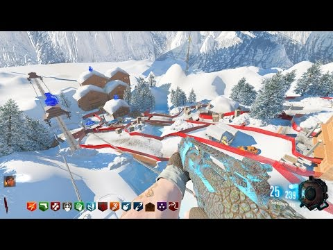 SKI SLOPES ZOMIBES CHALLENGE MAP! - BLACK OPS 3 CUSTOM ZOMBIES GAMEPLAY! (BO3 Zombies)
