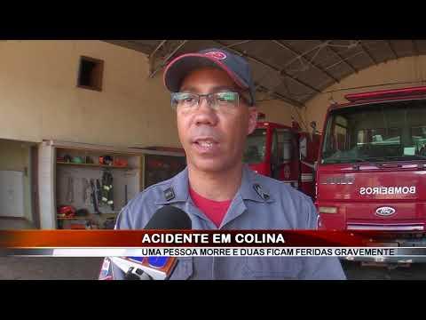 16/12/2018 - Uma pessoa morre e duas ficam feridas em grave acidente na Vicinal Rene Vaz de Almeida em Colina